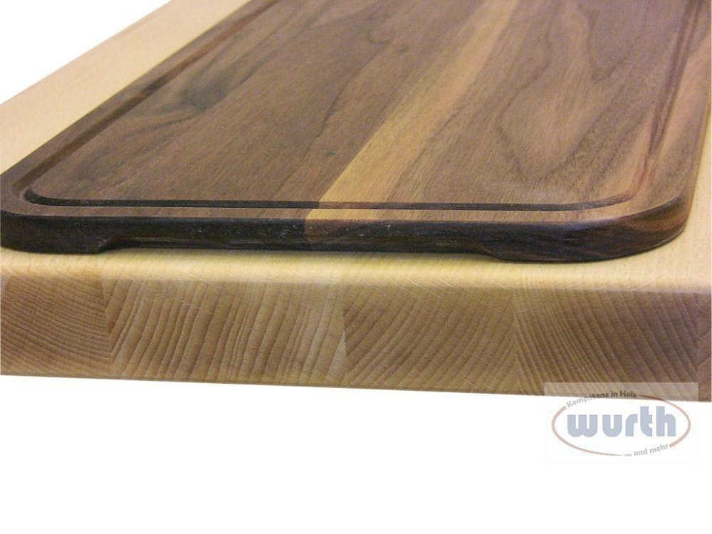 Arbeitsplatte Holz mit Schneidbrett