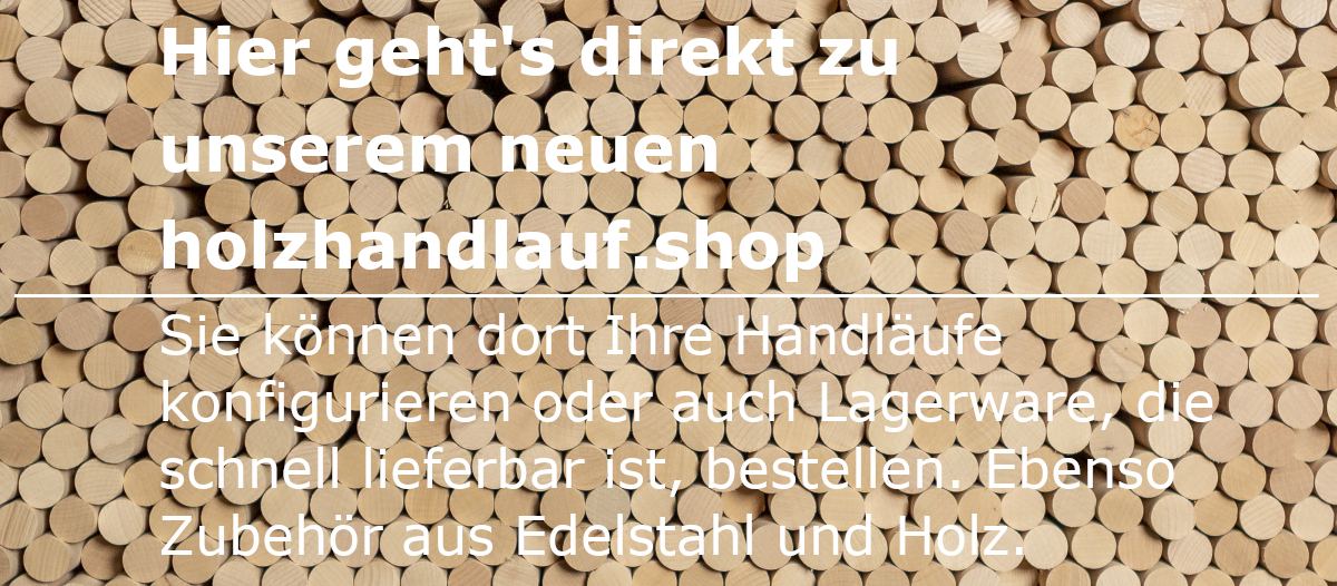 200 cm L/ärche Holz Handlauf lackiert /Ø 42 mm mit bearbeiteten Enden ohne Halter L/änge 2,0 m Enden:Halbkugel gefr/äst 2000 mm