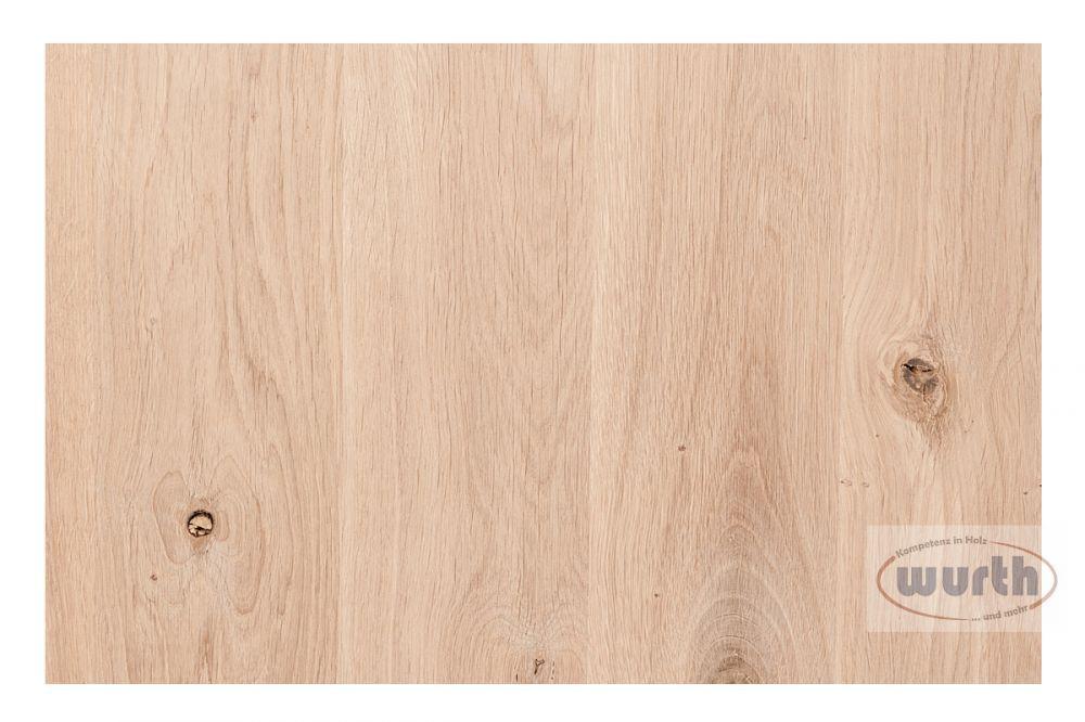 Sortierung Massivholzplatte Eiche rustikal B