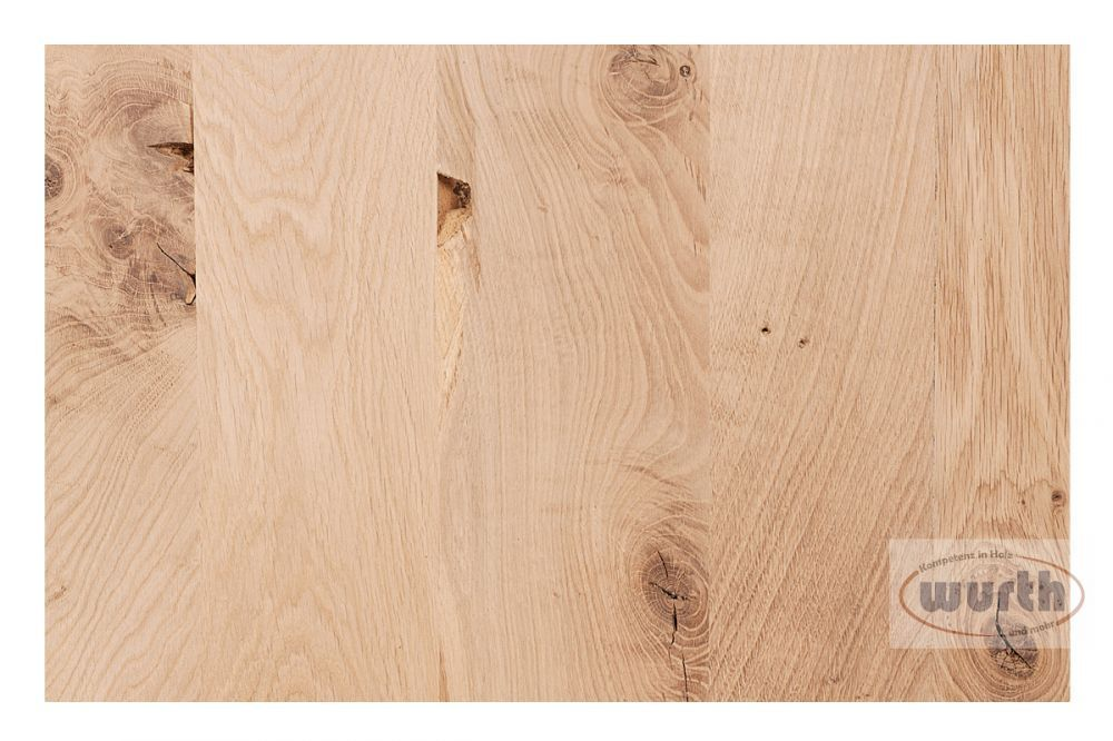 Sortierung Massivholzplatte Eiche rustikal C