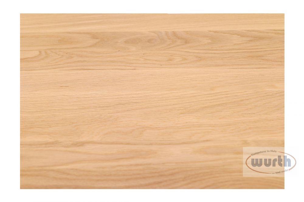 Massivholzplatte Eiche A/B 40 mm Fixlamellen