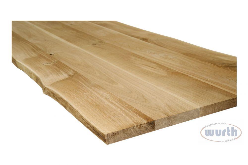 Massivholzplatte Eiche Natural-Line Naturkante