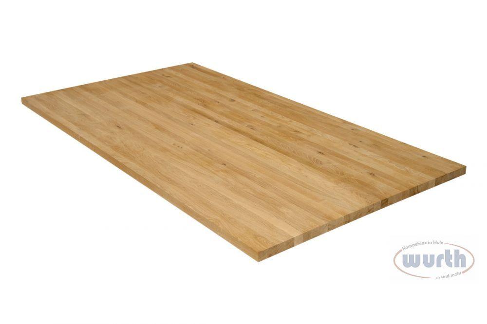 Massivholzplatte Wildeiche (Asteiche) Fixlamellen
