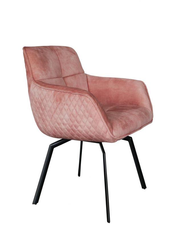 Drehstuhl PETER - rosé - Adore Velvet