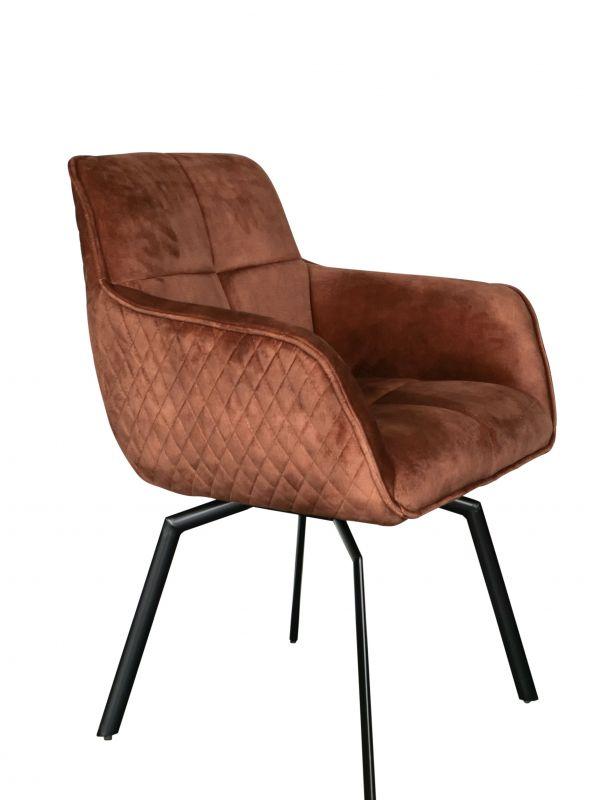 Drehstuhl PETER - bronze - Adore Velvet