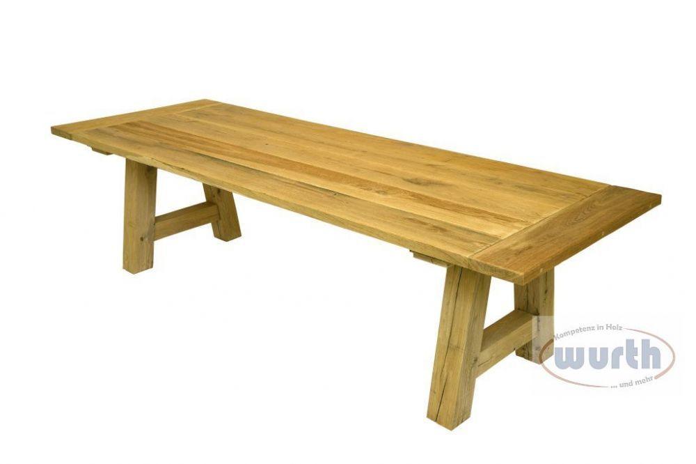Tisch FREIBURG - Eiche rustikal, gebürstet