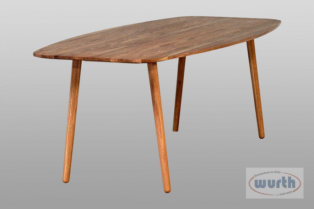 Tisch RETRO 69 - Eiche astrein, Bootsform