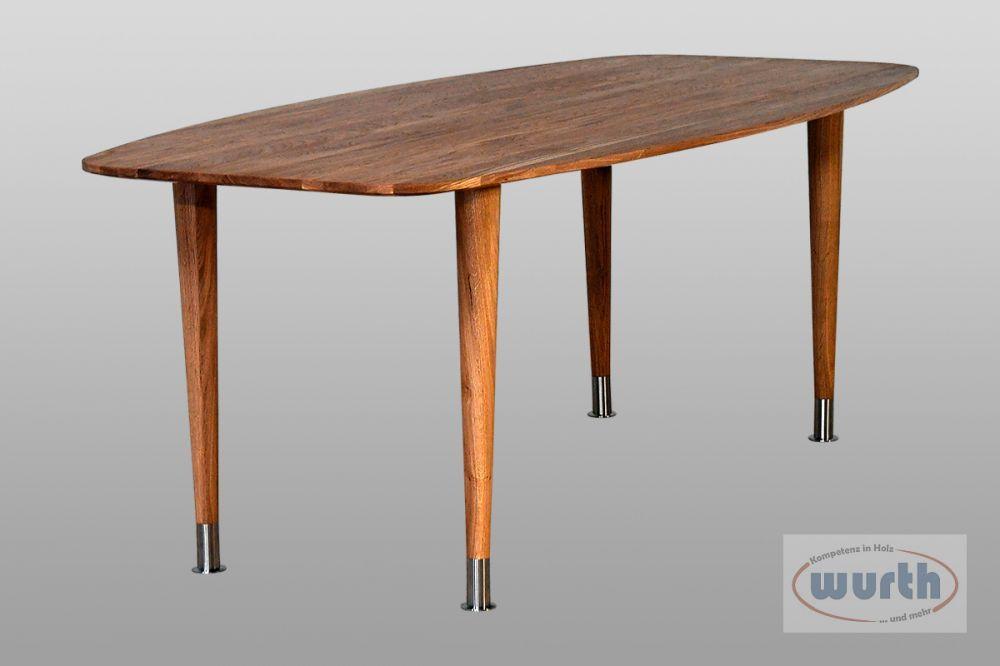 Tisch RETRO 72 - Eiche Bootsform