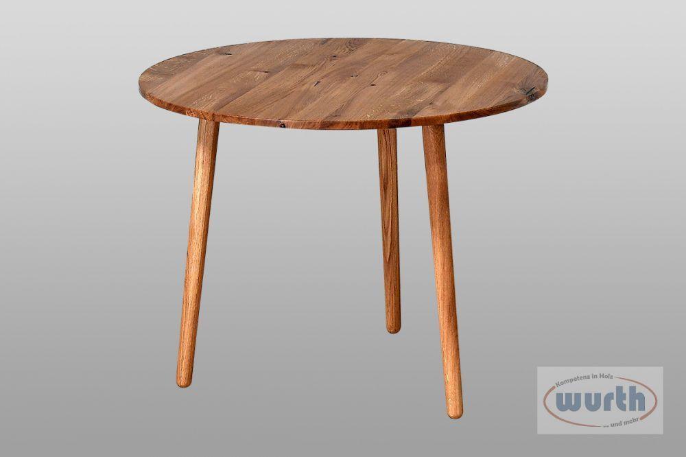 Tisch RETRO 69 - Wildeiche rund
