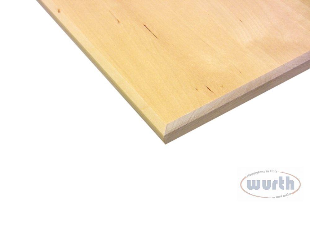 Tischplatte Holz Birke, Kante