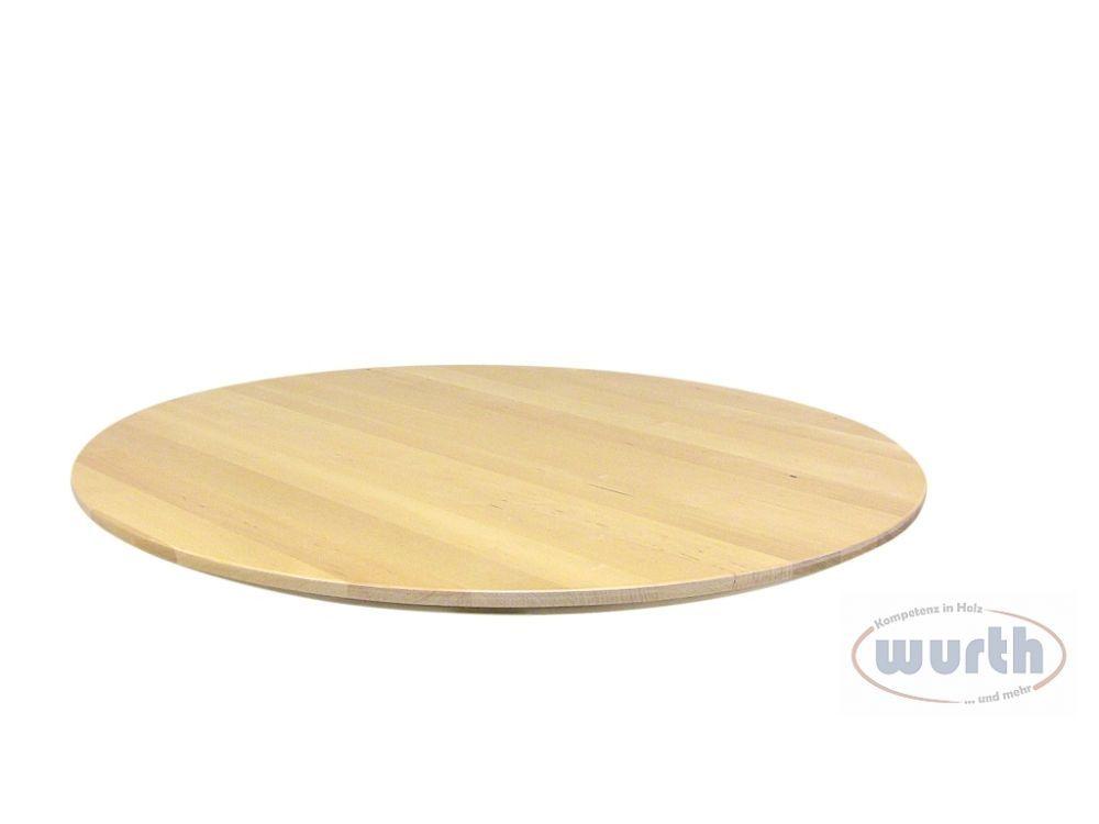 Tischplatte Holz Birke rund