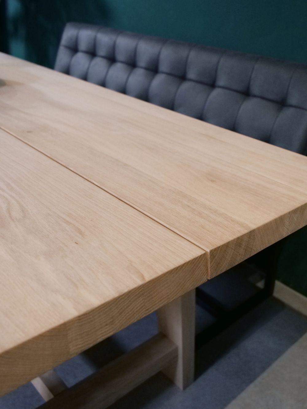 Design Line - geteilte Tischplatte aus Eiche