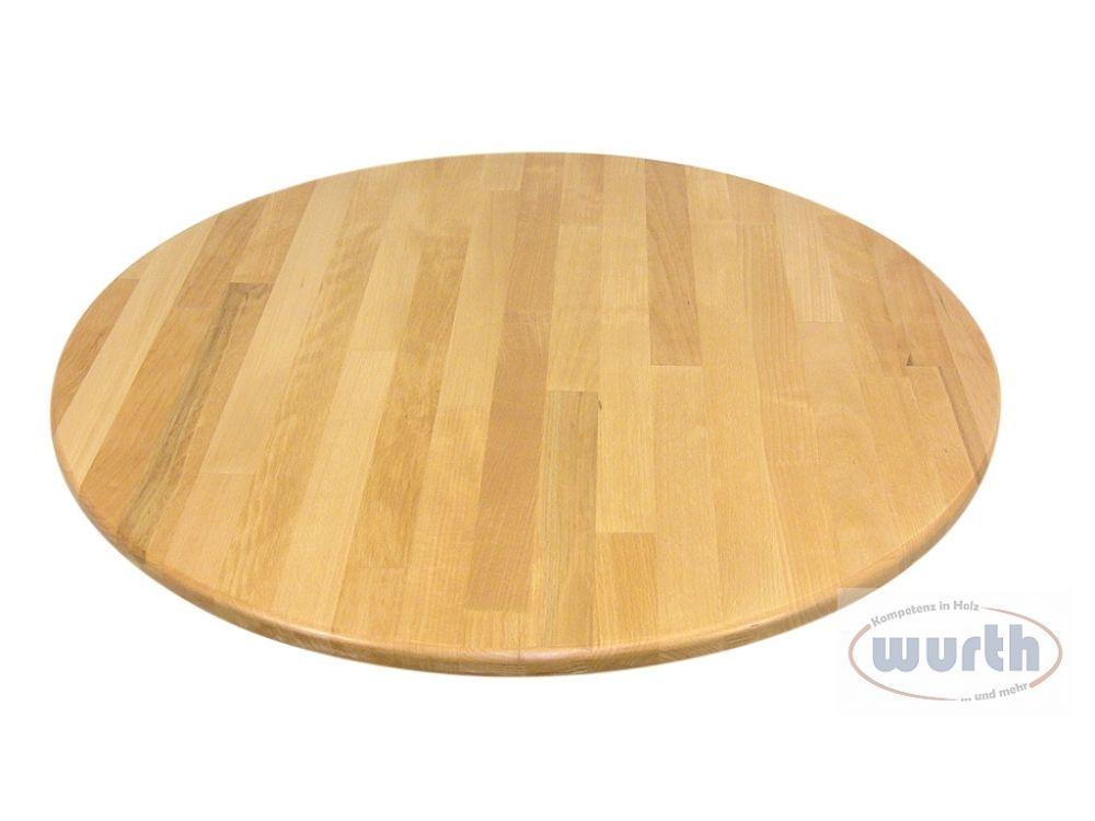 Tischplatte Holz Buche keilgezinkt, rund