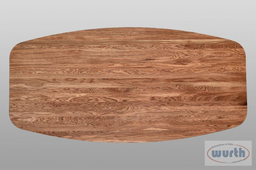 Tischplatte Eiche astrein Bootsform, geölt