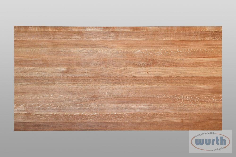 Tischplatte Eiche astrein rechteckig, geölt
