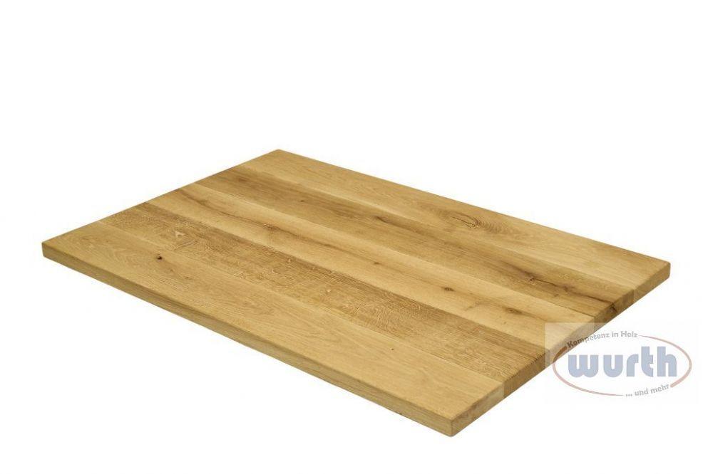 Tischplatte Holz Eiche massiv Gastro-Line geölt
