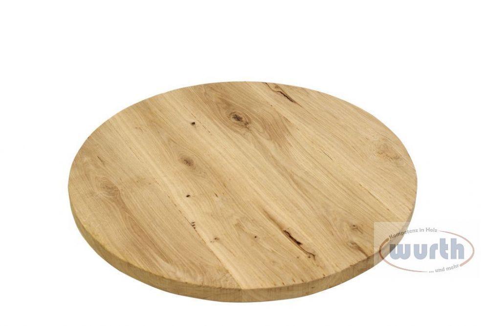 Tischplatte Holz Eiche massiv Gastro-Line rund