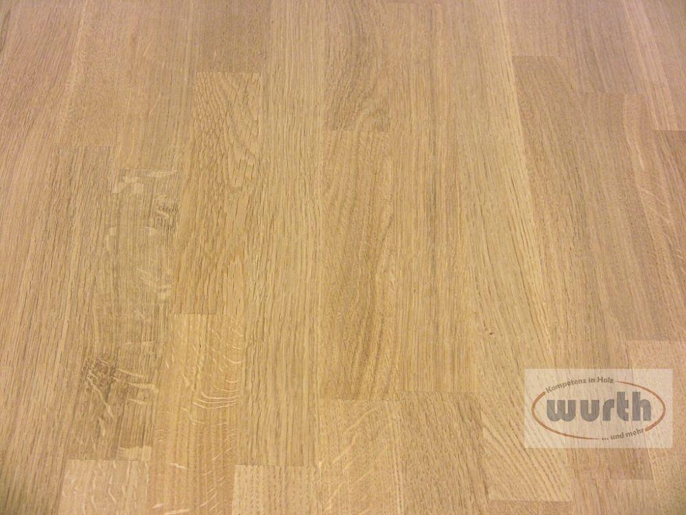 Tischplatte Holz Eiche massiv keilgezinkt (lackiert)