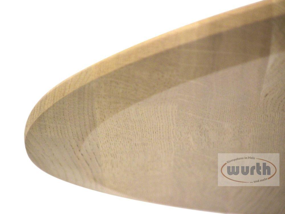 Tischplatte Holz Eiche massiv KGZ, rund