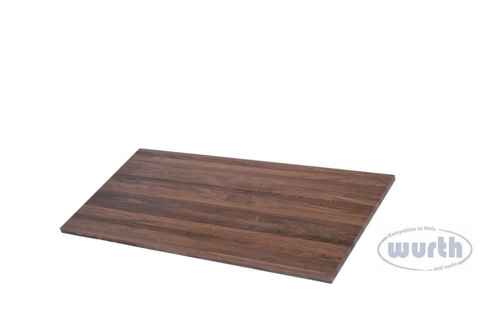 Tischplatte Holz Nussbaum massiv mit Fixlamellen