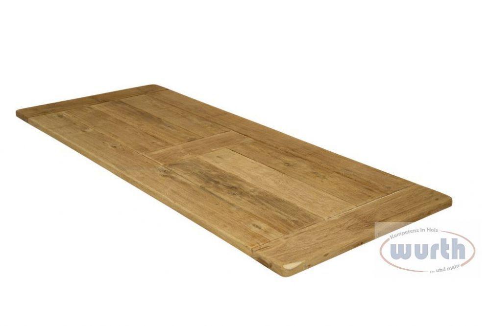 Tischplatte Holz Eiche massiv Old-Style Spezial