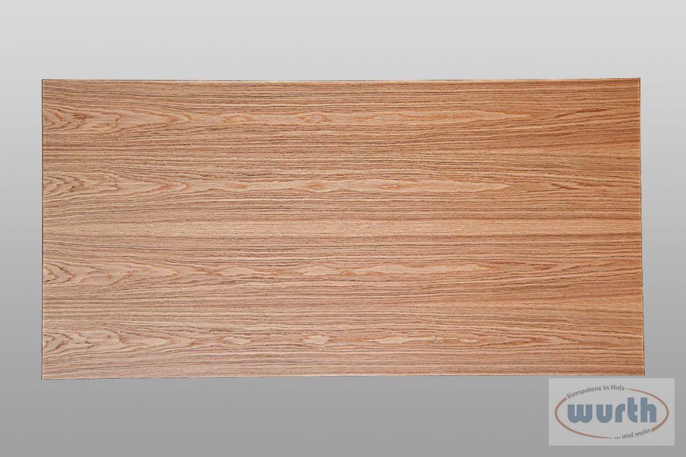 Tischplatte Eiche furniert auf MDF, lackiert