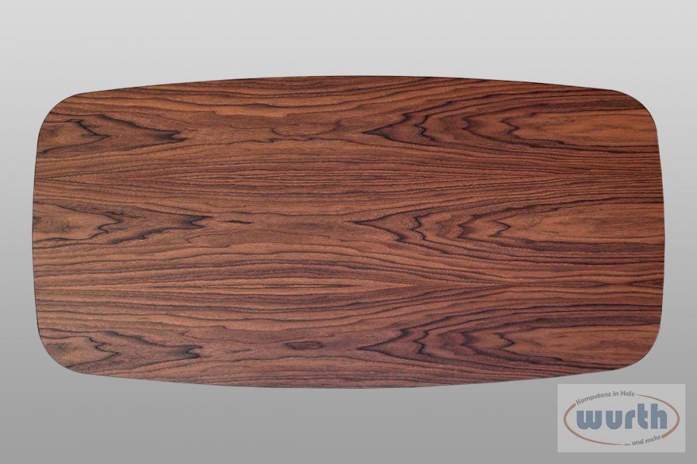 Tischplatte Nussb. furniert auf MDF, lackiert