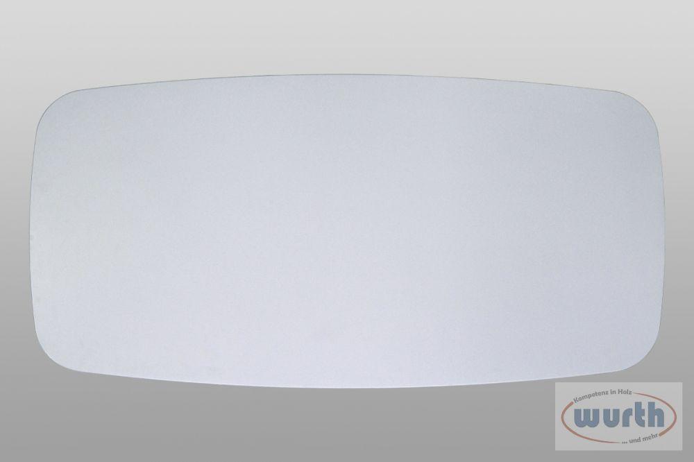 Tischplatte bootsform grau, MDF lackiert