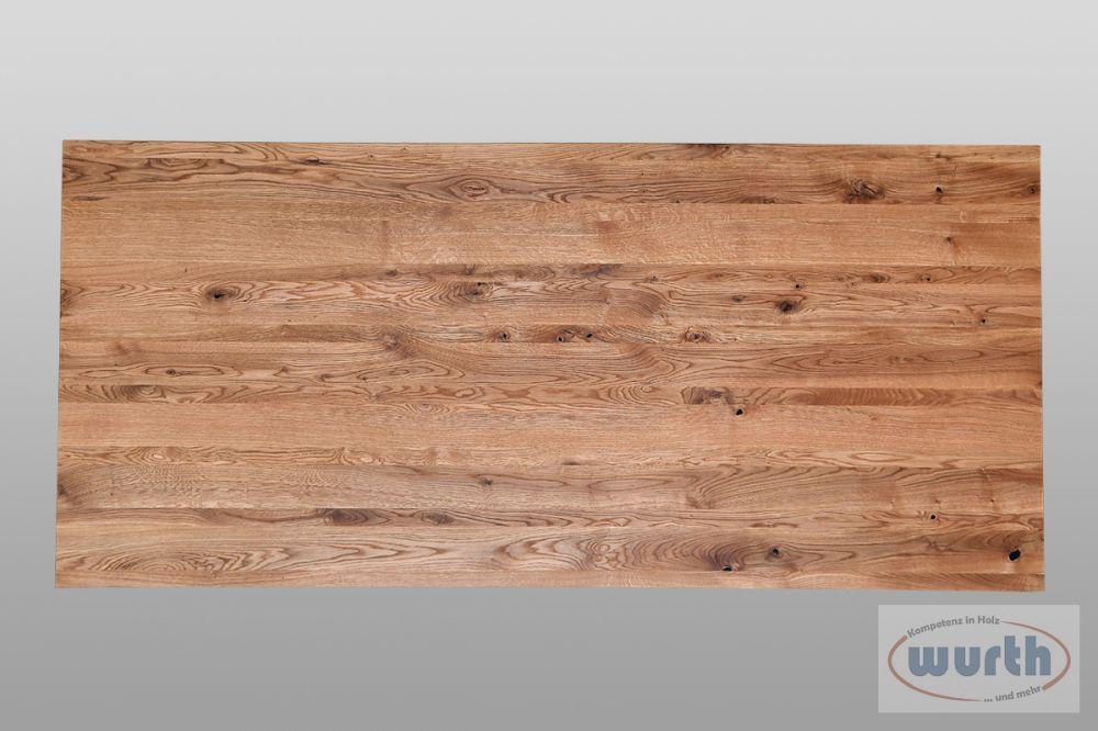 Tischplatte Wildeiche rechteckig, geölt