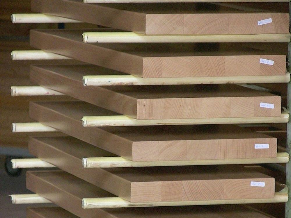 Holzstufen Holz Buche Im Hordenwagen