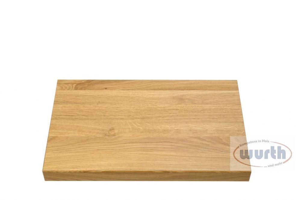 Holzstufe Eiche A/B Fixlamellen, lackiert
