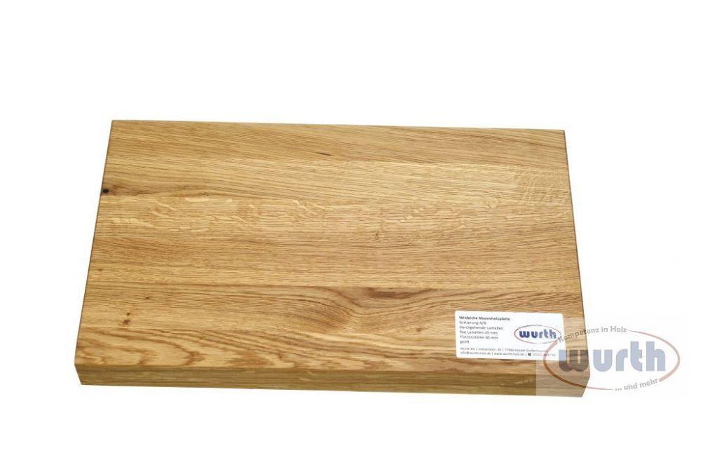 Treppenstufe Holz Wildeiche Fixlamellen