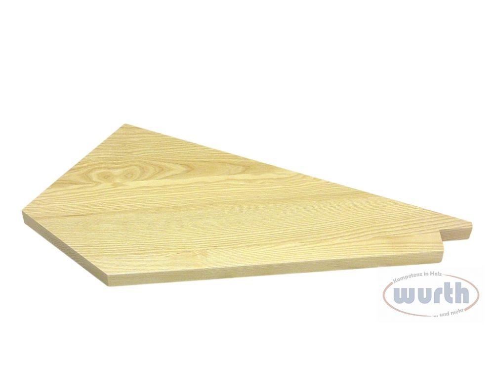 Treppenstufe Holz Esche, lackiert