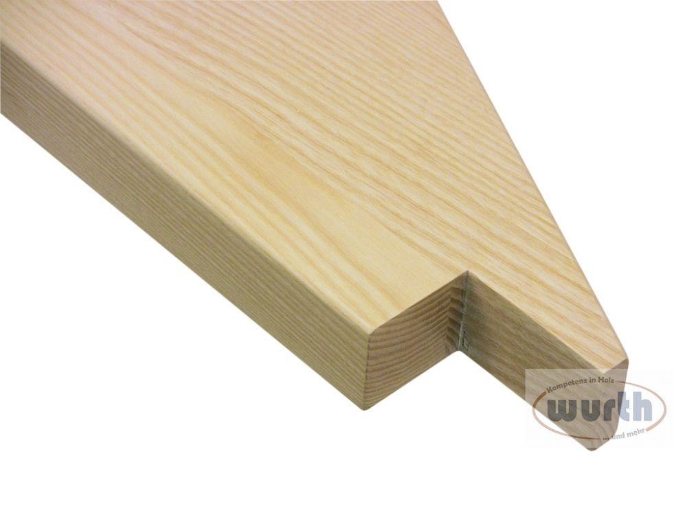 Treppenstufe Holz Esche, lackiert, Detail
