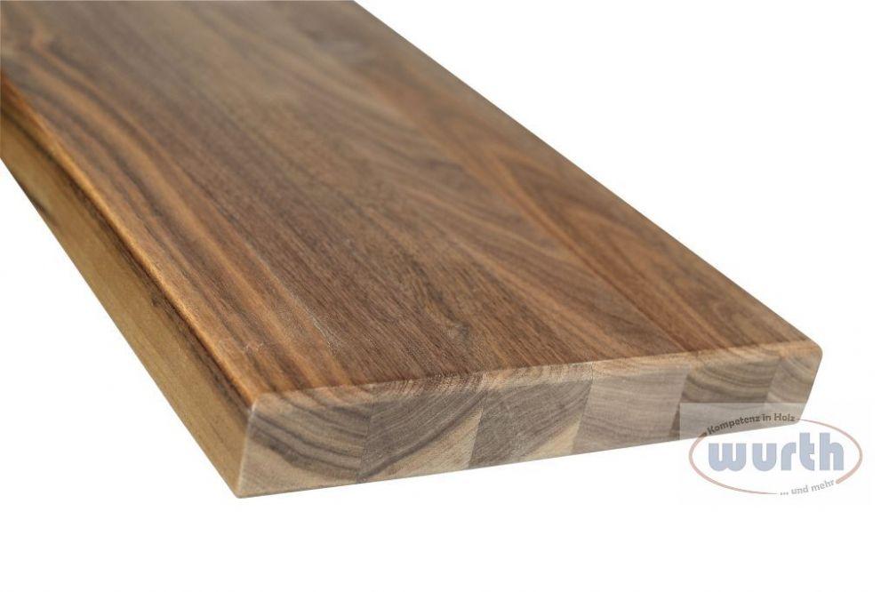 Treppenstufe Holz Nussbaum Lackiert